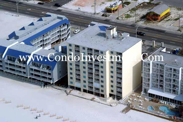 Aerial Images of Castaways Condo in Gulf Shores AL