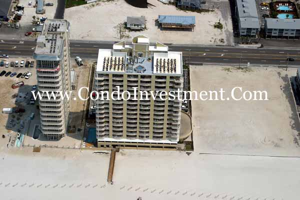 Aerial Images Of The Island Royale Condo In Orange Beach Al