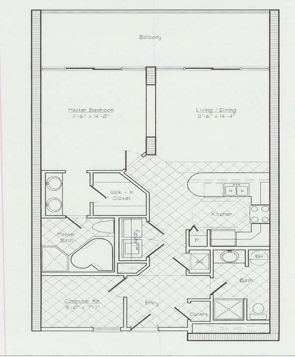 Floor plans for the lighthouse condo in gulf shores al for Gulf coast cottage plans