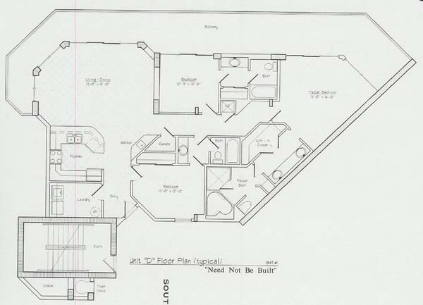Floor Plans For The Lighthouse Condo In Gulf Shores AL