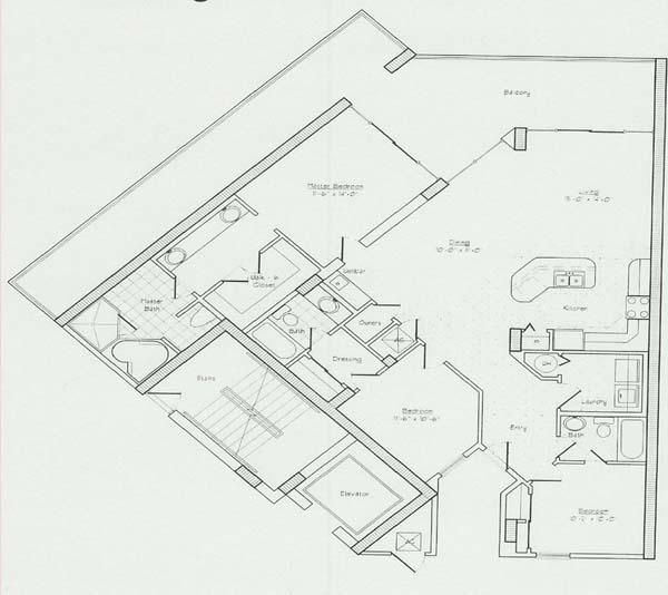 Floor plans for the lighthouse condo in gulf shores al for Condo blueprints