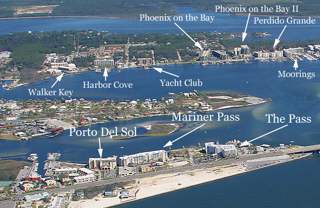 Boating Condos In Orange Beach Al Using Aerial Image Map