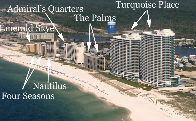 Orange Beach Alabama Map Of Condos Bnhspine