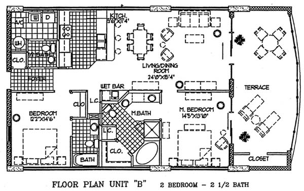 Floor plans for regency isle condo in orange beach al for Condo floor plans 2 bedroom