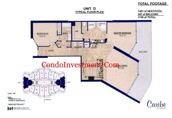Floor Plans For Caribe Condo In Orange Beach Al