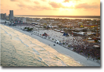Sunset at the Hangout in Gulf Shores, AL during the 2014 music festival