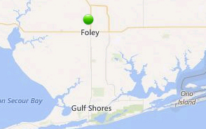 Map of North Pine Place's location in Foley