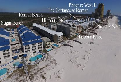 Roll Over Thumbnail To Enlarge Orange Beach Aerial Condo