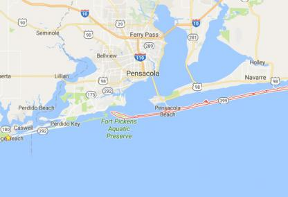 Map Of Pensacola Florida.Pensacola Beach Real Estate Pensacola Beach Properties For Sale