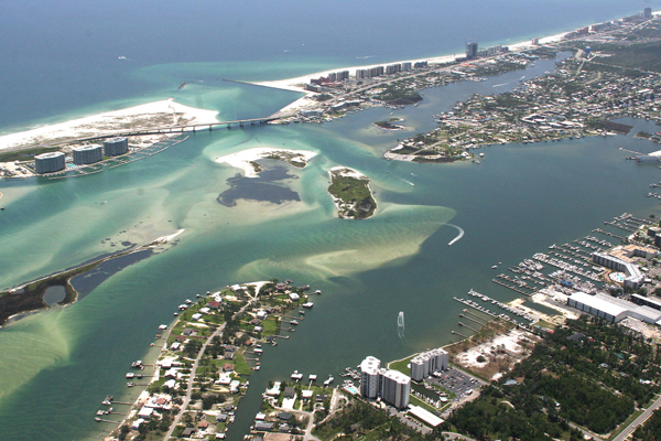 Aerial view of Orange Beach AL