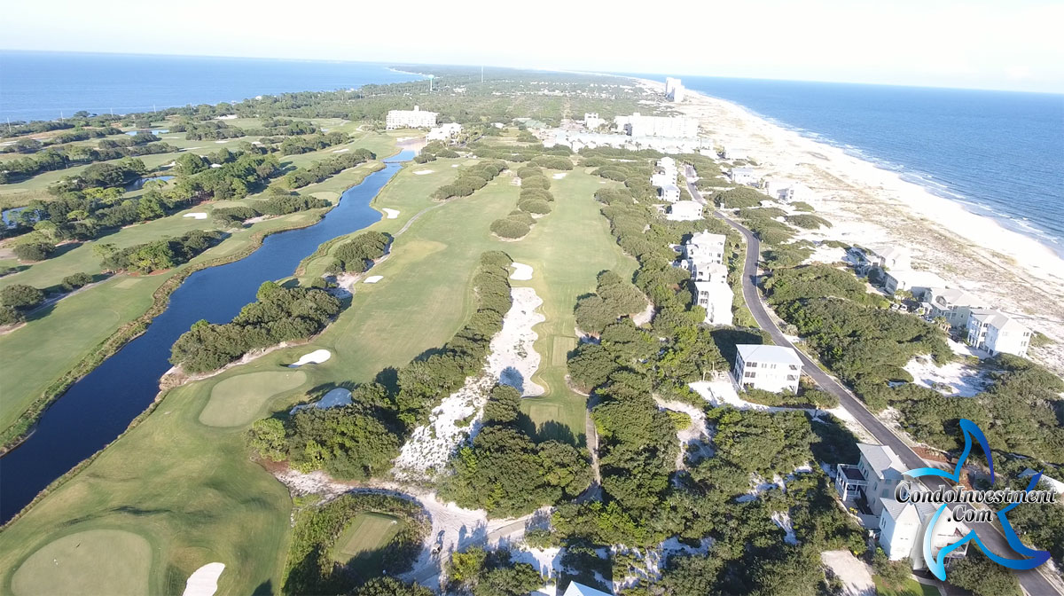 Aerial view of Kiva Dunes in Gulf Shores Alabama