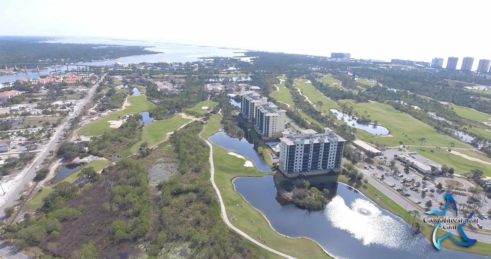 Aerial image of the Lost Key area of Perdido Key FL