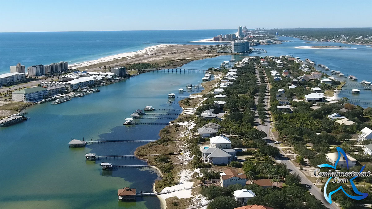 Aerial image of Orange Beach Alabama