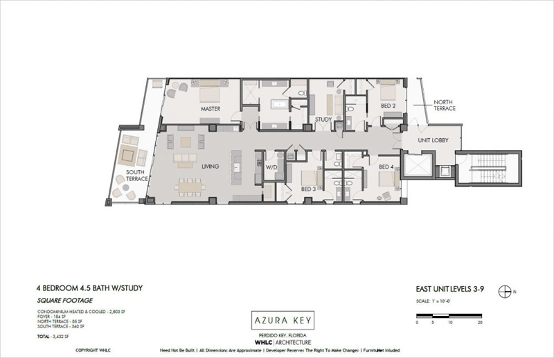 Azura Key floor plans - East-end 4BR