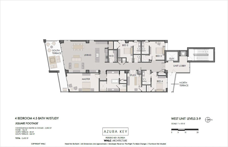 Azura Key floor plans - East-end units 3-9