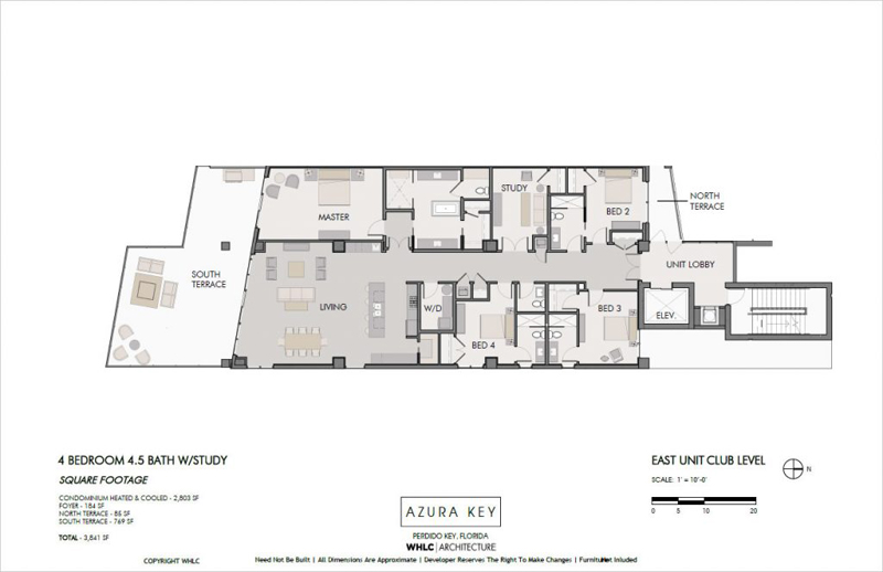 Azura Key floor plans - West-end units 3-9