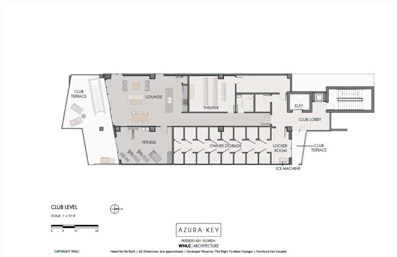 Azura Key floor plans - club level