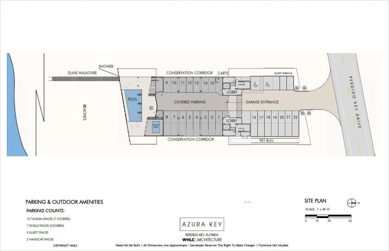 Azura Key floor plans - parking