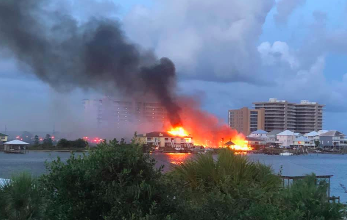 Perdido Key Fire at Key Harbour Condo