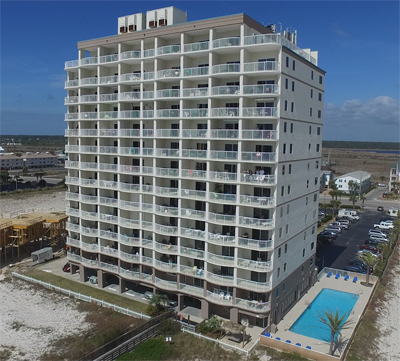South-side of Royal Palms condo in Gulf Shores AL