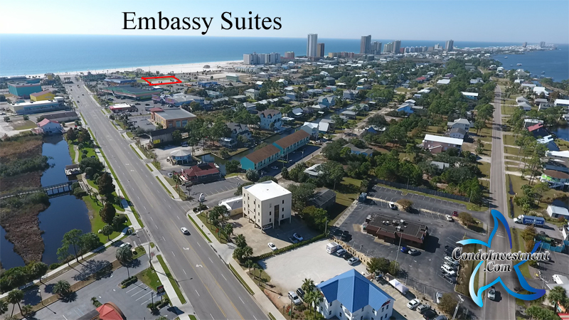 Embassy Suites hotel site in Gulf Shores, AL - From the North