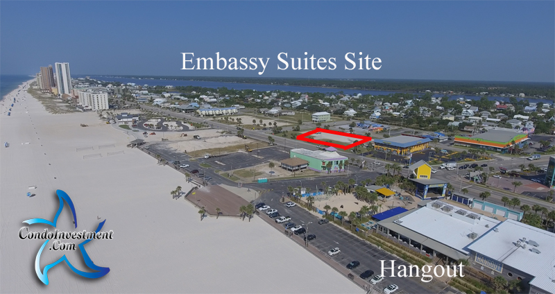 Embassy Suites hotel site in Gulf Shores, AL