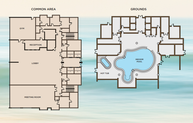 Building Floor Plans for Phoenix Gulf Towers in Orange Beach, AL