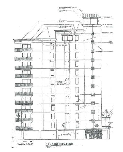 East elevation plans at Perdido Dunes Tower
