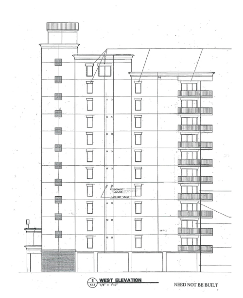 West elevation plans at Perdido Dunes Tower