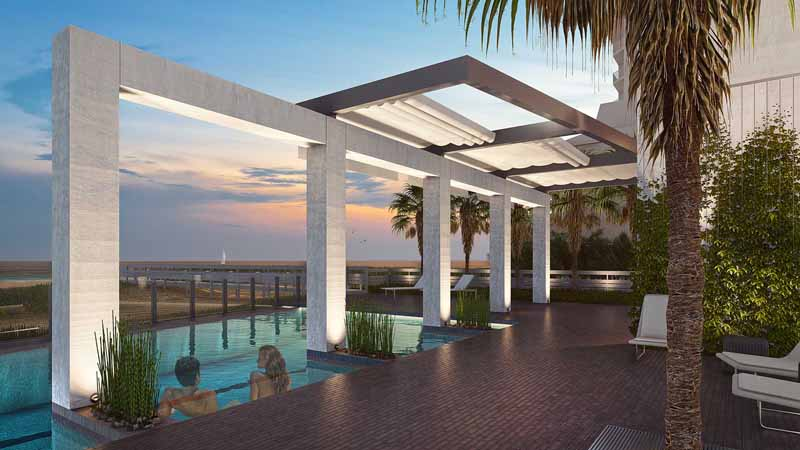 Pool deck arch at Azura Key