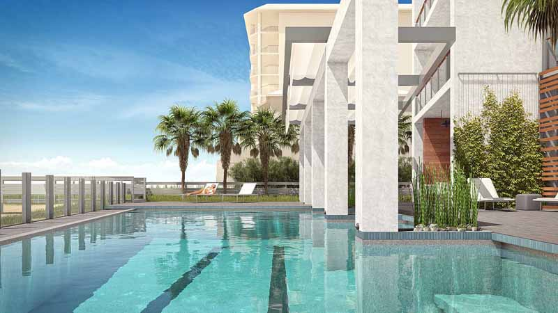 Pool at Azura Key condos in Perdido Key