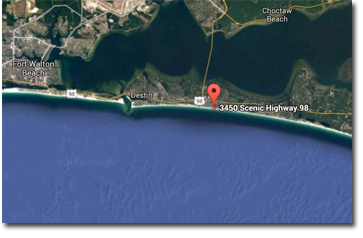 Cabana Club condos in Destin FL | Location map