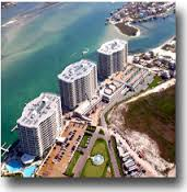 Aerial view of Caribe condos in Orange Beach AL