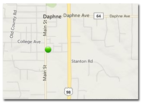 Location of Delachase Square homes in Daphne AL