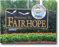 Fairhope AL welcome sign