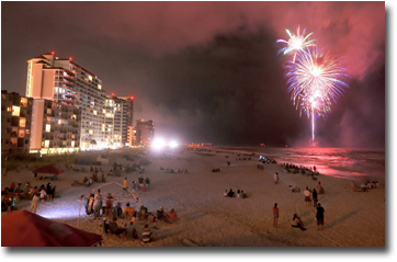 Fourth of July from Gulf Shores Lighthouse condo