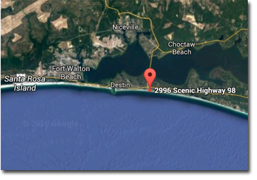 Destin Florida Map Of Beaches on