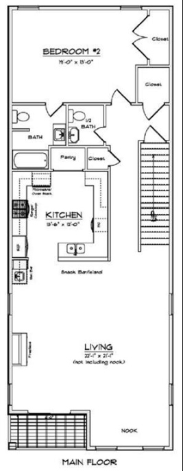 Mallory Square North Main Floor Plan