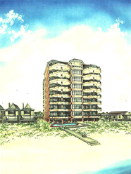 Rendering of Coquina Caye condo project