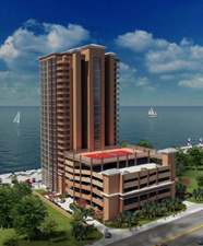 Rendering of Phoenix Gulf Shores condo project