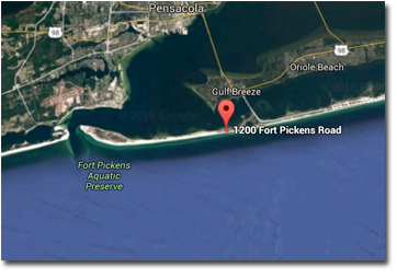 Tristan Towers condos in Pensacola FL location map