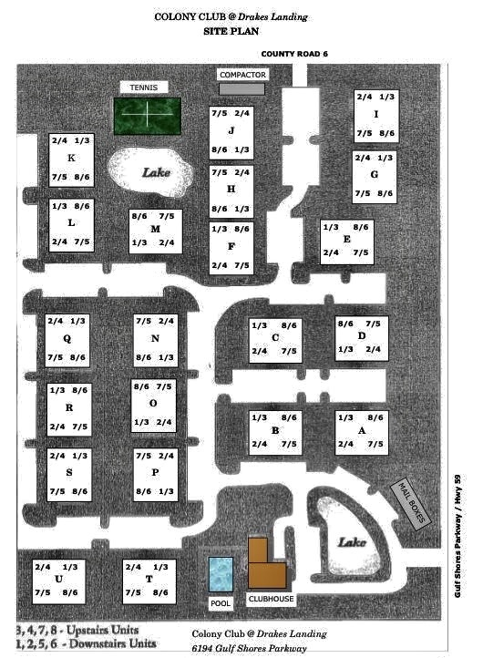 Colony Club Property Map